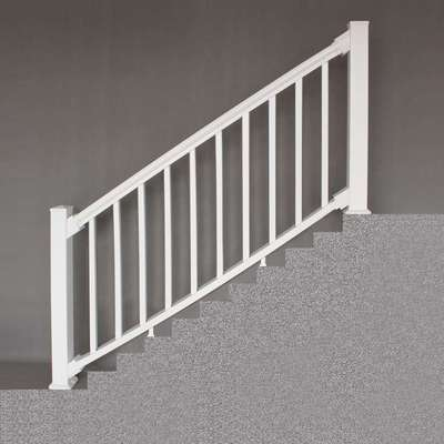 "6""White Premium Stair Rail"