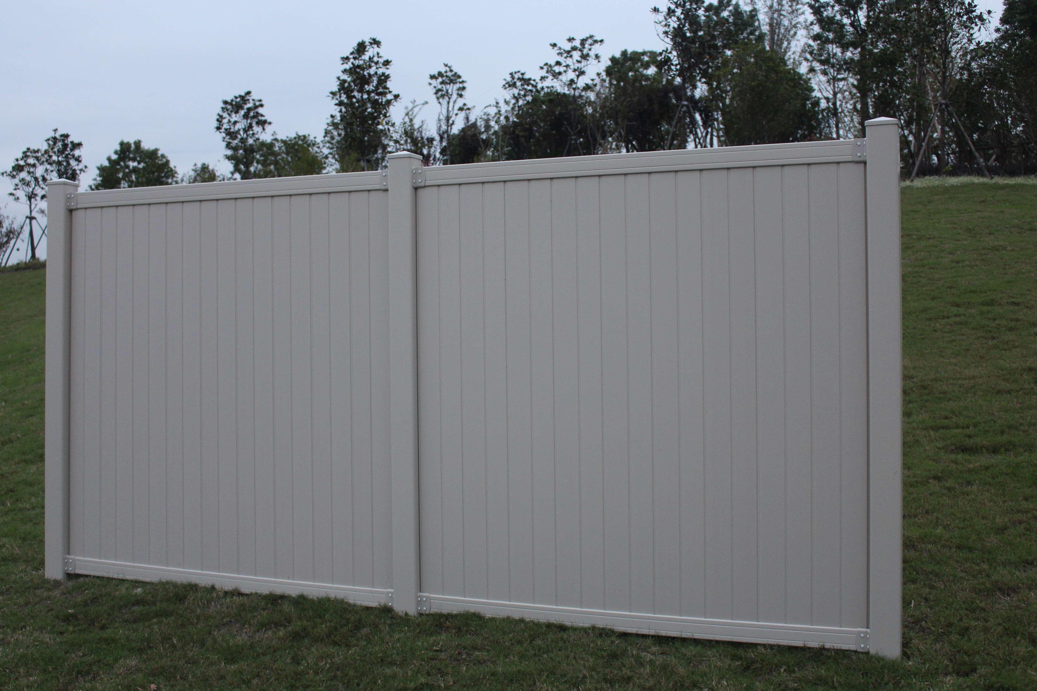 Tan Belmont Privacy Vinyl Fence Panel Vida Plastic Mould