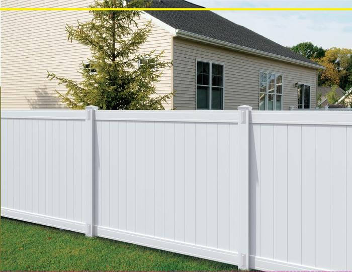 White Richmond Privacy Fence Panel Kit