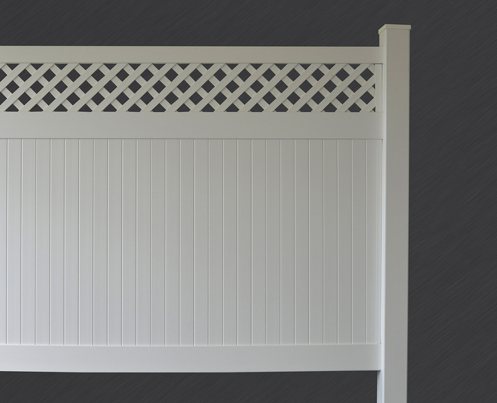 White Lattice Privacy Fence Panel Kit