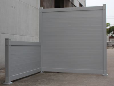 Gray Blooma Privacy Vinyl Fence Panel